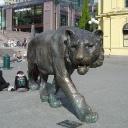 Скульптуры в городе-0
